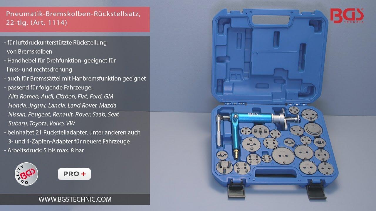 BGS Bremskolben Rücksteller Satz Druckluft Rückstellsatz 22-tlg VW Audi Ford usw