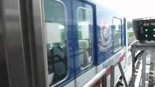 横浜新都市交通1000形(横浜マリノス広告車) 金沢シーサイドライン