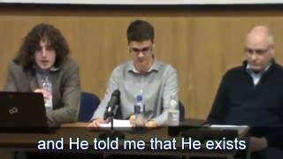 ATHEIST SAYS GOD TALKED TO HIM IN DEBATE