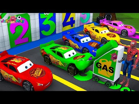 learn color Lightning McQueen mack truck magic juice play for kids car toys