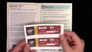 Home School BookIt Pizza Hut Reading Program