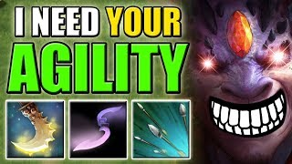 Intelligence Hero with Agility Steal [Essence Shift + Focus Fire] Ability Draft