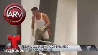 Albañil causa sensación bailando sexy tema de Ariana Grande | Al Rojo Vivo | Telemundo