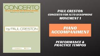 Paul Creston – Concerto for Alto Saxophone, mvt  I (Piano Accompaniment)