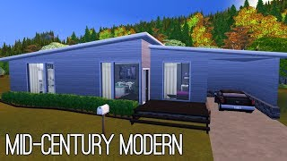 Mid-Century Modern ✨| The Sims 4 Speed Build