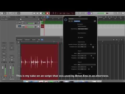 Logic Pro X Midi Scripts (TypeDrummer + Brian Eno)
