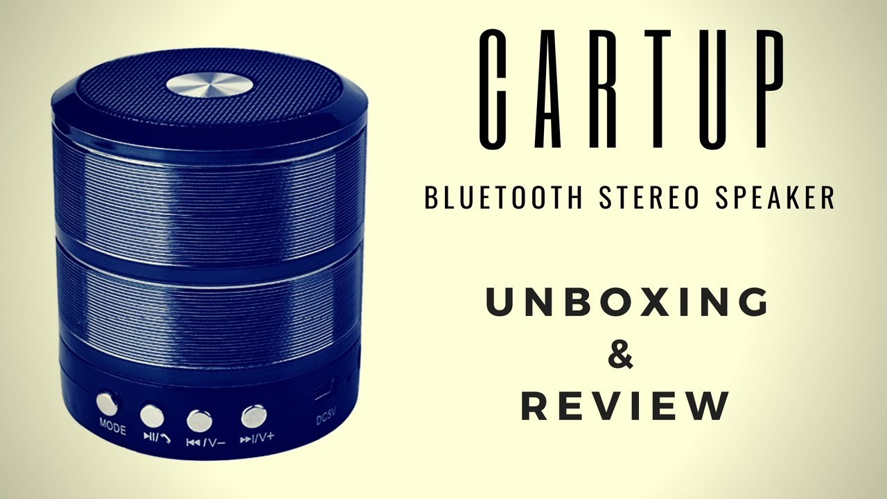 Cartup Wireless Bluetooth Stereo Speaker Unboxing & Review