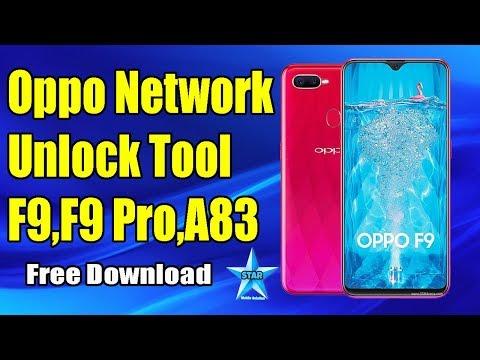 Oopo MTK Network Unlocker F9/F9 Pro/A83 | Oppo Network