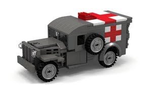 Lego WWII WC54 Ambulance Instructions