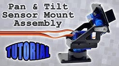 Pan and Tilt Sensor Mount Assembly for Arduino and Raspberry Pi