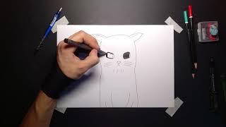 Как Нарисовать Аниме Кота За 5 Минут