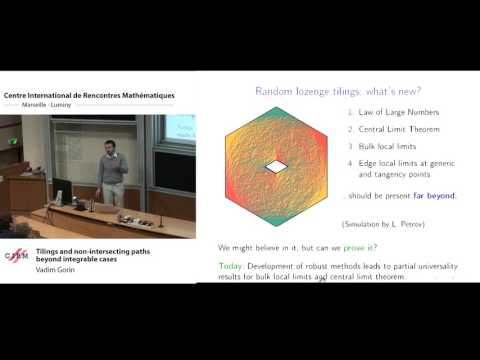Vadim Gorin: Tilings and non-intersecting paths beyond integrable cases