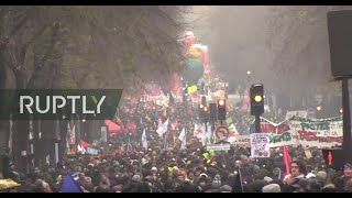 LIVE: French unions call for general strike against pension reforms