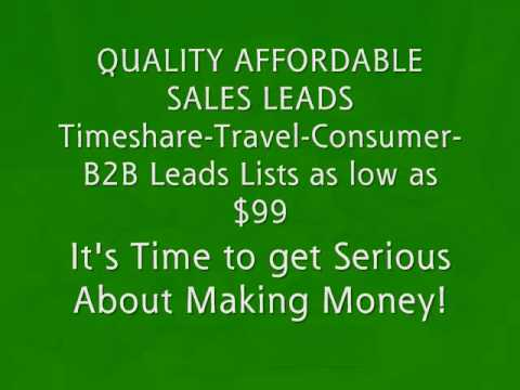 BUY QUALITY AFFORDABLE LEADS- TIMESHARE OWNER CONSUMER B2B MLM TRAVEL  INSURANCE MORTGAGE