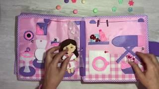 Umay'ın aktivite kitabı, bebek evi, doll house, quiet book,