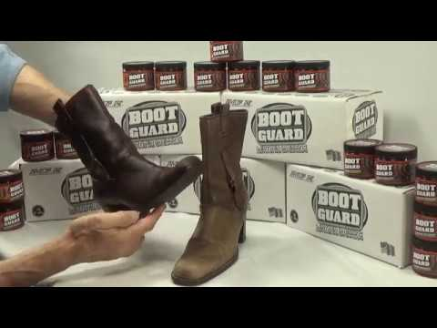 Waterproofing Leather with Boot Guard® Leather Dressing