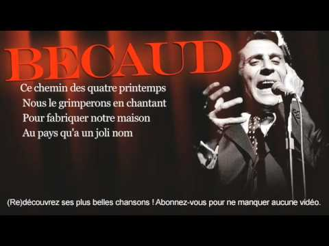 Gilbert Bécaud - Pilou Pilou Hé - Paroles (Lyrics)