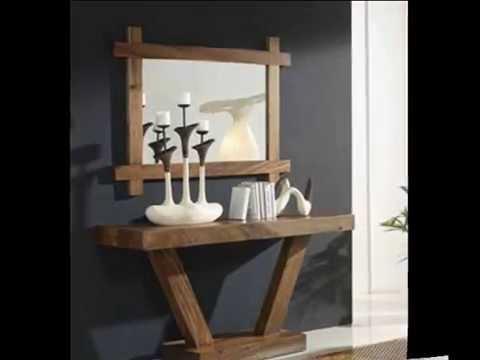 Consolas de madera para recibidores y salones youtube for Consolas decoracion hogar