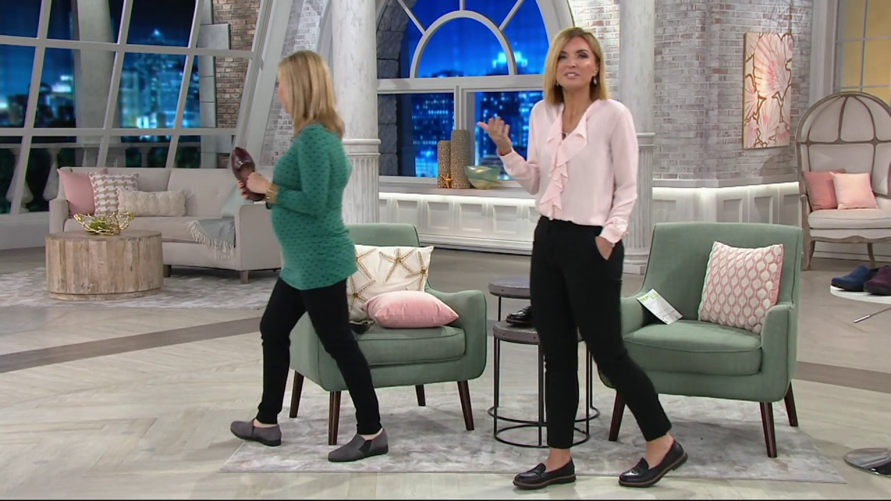 fa319f703d5 Clarks Leather Slip-on Loafers - Raisie Eletta on QVC - YouTube