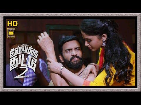 Dhilluku Dhuddu 2 Full Movie | Santhanam Falls Love With Shritha Sivdas | Mottai Rajendran