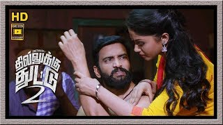 Dhilluku Dhuddu 2 Full Movie | Santhanam falls Love with Shritha Sivdas | Mottai Rajendran