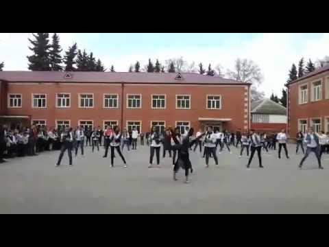 Flashmob MADAGASCAR в Геокчае в школе N3