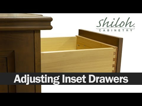 How To Adjust Your Cabinet Drawers On An Inset Cabinet -Shiloh Cabinetry™