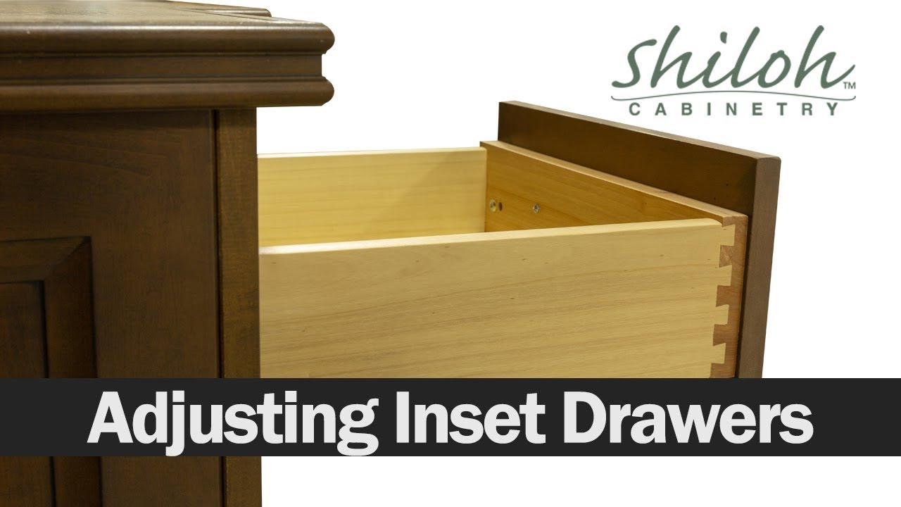 How To Adjust Your Cabinet Drawers On An Inset Cabinet  Shiloh Cabinetry™