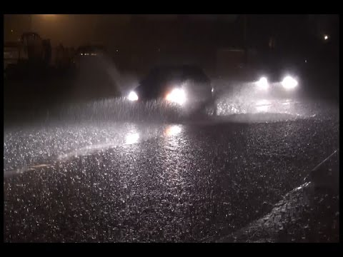 Marion, IL Overnight Night Heavy Rain & Street Flooding - 4/28/2017