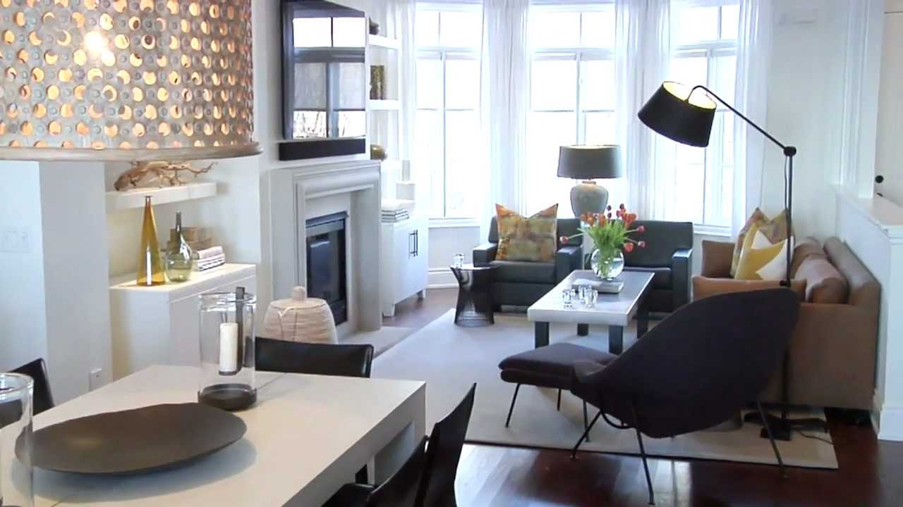 Interior design bright warm lakeside townhouse youtube for Small townhouse living room ideas