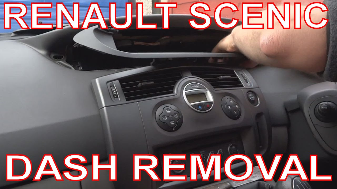 hight resolution of how to remove renault scenic dashboard digital dash panel instrument cluster youtube