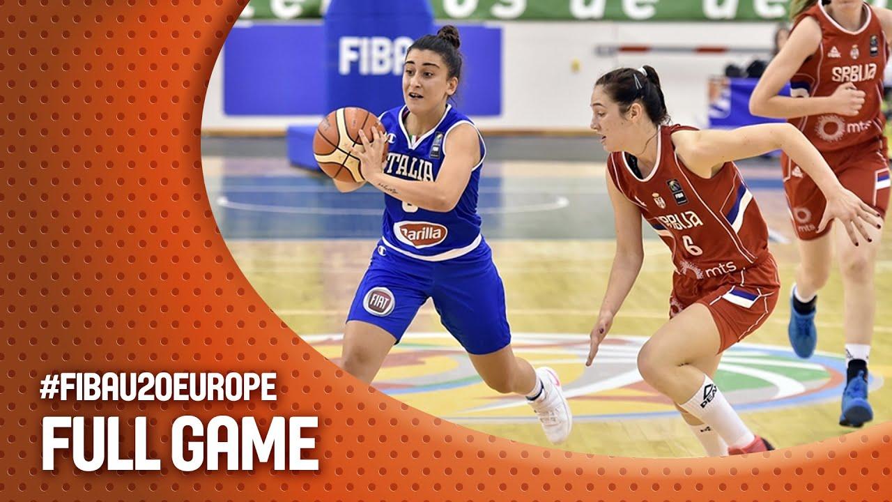 Serbia v Italy - Full Game - Semi Final - FIBA U20 Women s European  Championship 2016 3d71c45d27
