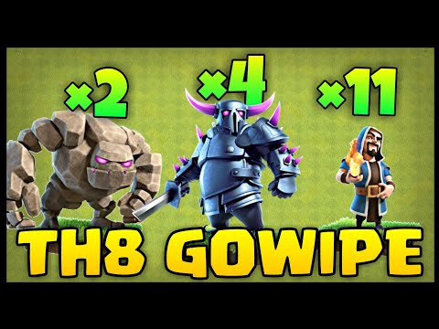 TH8 GoWiPe (Golem + Wizard + Pekka) War Attack Strategy | Part 4 | Clash Of Clans