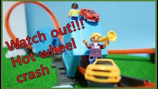 hot wheel crash. Toy car.