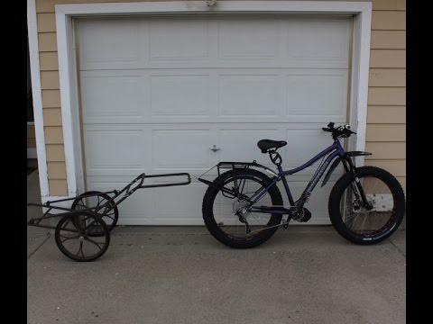 Fat Tire Bicycle W Game Cart Trailer Custom Mount Youtube