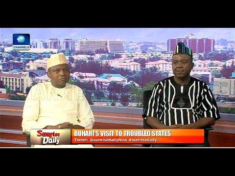 Reviewing Buhari's Visit To Troubled States With Garba Shehu, Tahav Agerzua Pt.2 |Sunrise Daily|