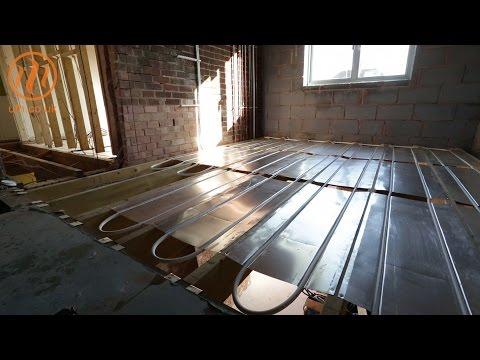 Underfloor heating first floor AluPlate™ install by Continental Underfloor