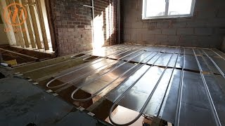 Underfloor heating first floor AluPlate™ install by Continental Underfloor thumbnail