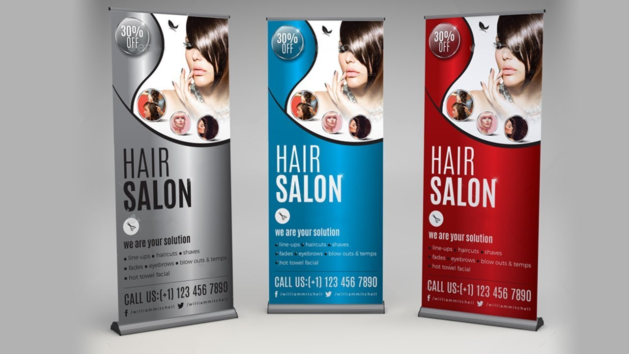 How To Design Beauty Salon Rollup Banner In Corel Draw X7 Tutorial Youtube