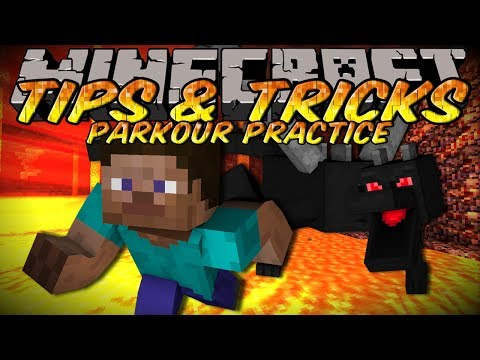 Minecraft Tips And Tricks - Parkour Practice with World Downloader!