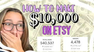 How to make $10K A MONTH on Etsy // what no one tells you