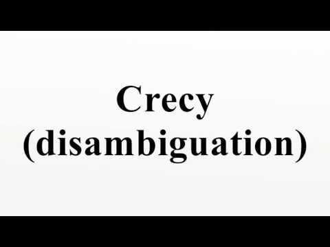 Crecy (disambiguation)