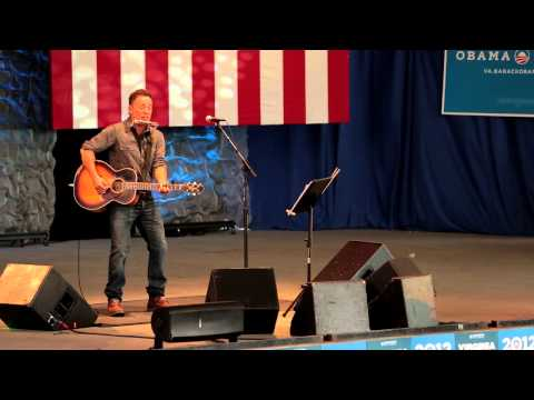 Bruce Springsteen at Charlottesville Obama For America Rally