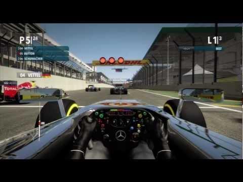 F1 2012 : Cockpit View : Sao paulo Brazil : Quick Race