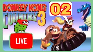 Eine düster wirkende Fabriklandschaft! 🔴 Donkey Kong Country 3 #02 [GER] [LIVE]