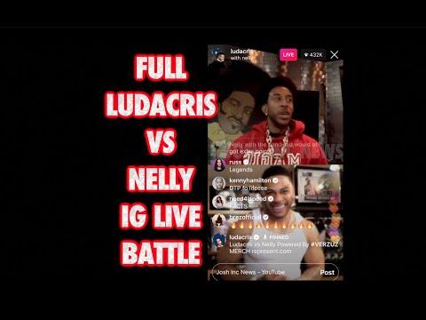 WATCH: Ludacris vs Nelly IG Live Battle 2020 [VIDEO]