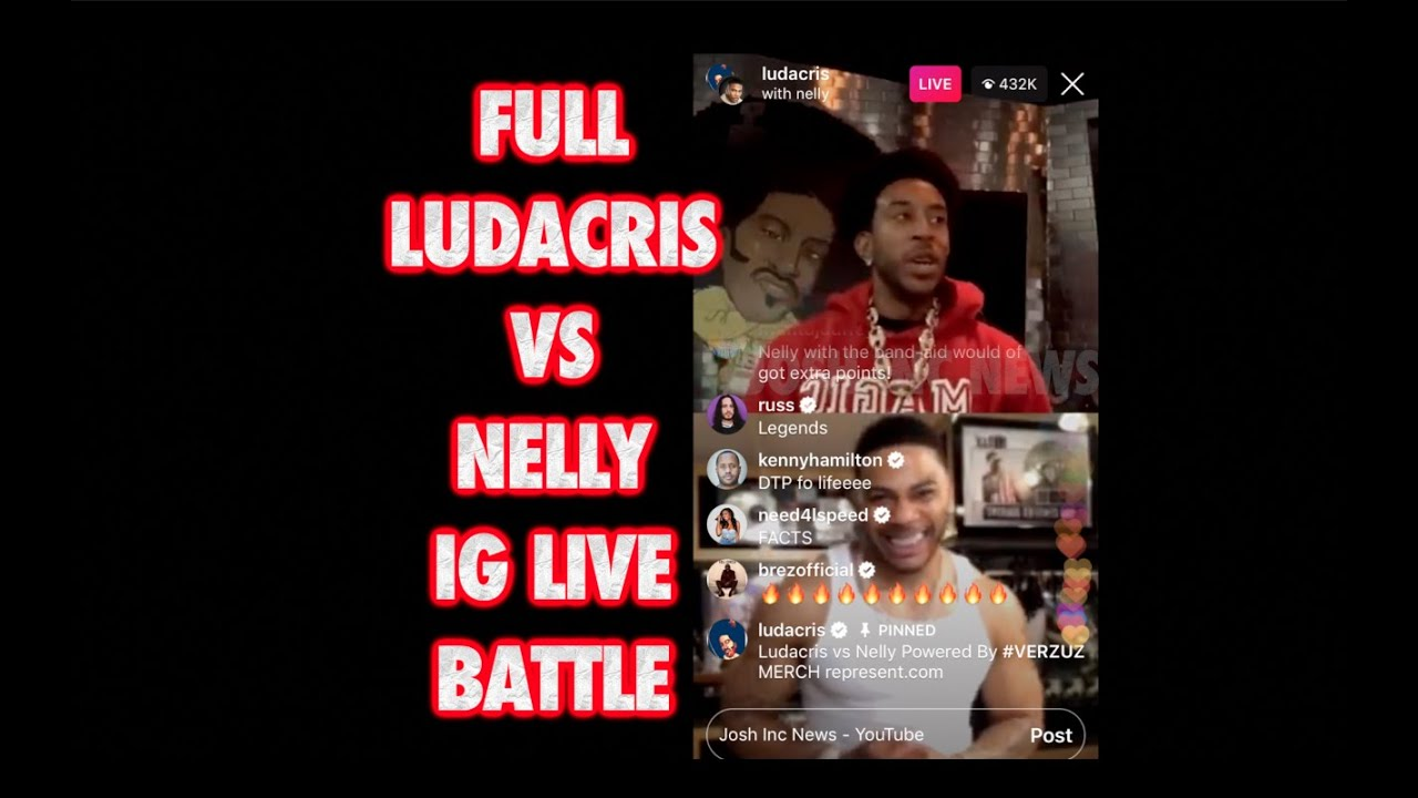 Nelly and Ludacris' Instagram Live battle: How it went down
