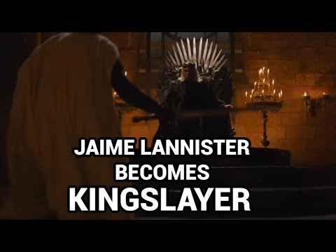 Game of thrones Jaime Lannister killing the mad king