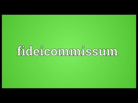 Header of fideicommissum
