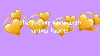 Yellow hearts by Anthony saunders (lyrics)